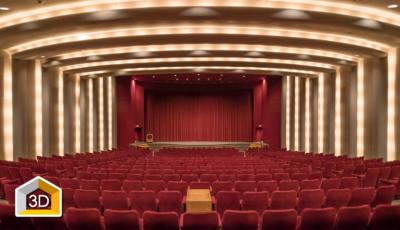 DGA Theaters, Grand Lobby & Atrium 3D Model